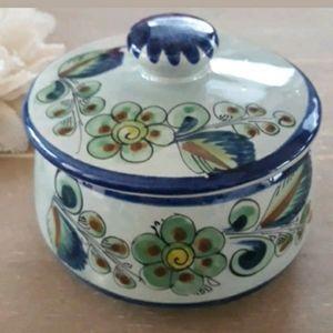 Tonala Mexico Pottery Dish w/Lid